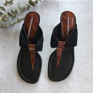 DONALD J PLINER Spandex Kitten Heel Sandals 7.5